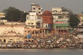 Bathing Ghats at Varanasi — Stock Photo