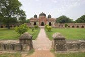 Ancient Mosque in Formal Gardens — Stock Photo