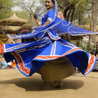Stock Photo: Tribal Dancer in a Spin