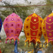 Row of Tibetan Lanterns — Stock Photo