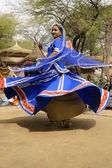 Tribal Dancer in a Spin — Stock Photo