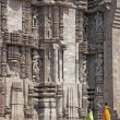 Tourists at Konark Temple — Stock Photo