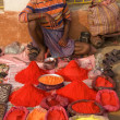 Foto Stock: Selling Hindu Powders