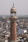 Minaret Over Old Delhi — Stock Photo