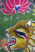 Face Painted Elephant at the Jaipur Festival — Zdjęcie stockowe