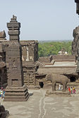Temple Courtyard at Ellora — Stock Photo