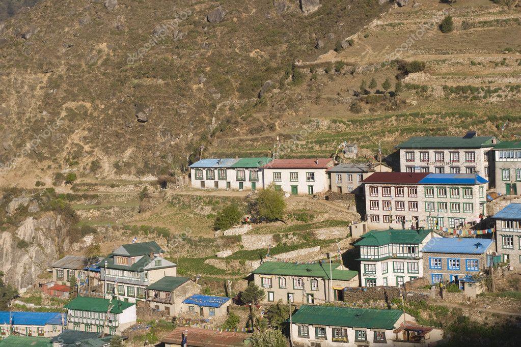 Himalayan Houses Stock Photo Richardsjeremy 8959718