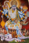Mural Of Hindu Deity — Stock Photo