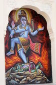 Hindu Mural — Stock Photo