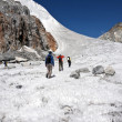 Traversing a Himalayan Glacier — Stock Photo #9083694