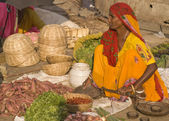 Street Market in Jaipur — Stock Photo