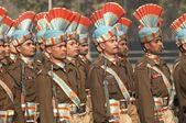 Soldados marchando — Foto de Stock