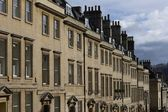 Town Houses in Historic Bath — Stock Photo