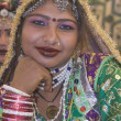 Portrait of a Rajasthani Tribal Dancer - Foto Stock