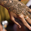 Hand Decorated With Henna - Stock fotografie