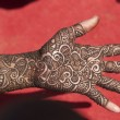 Hand Decorated With Henna - Zdjęcie stockowe