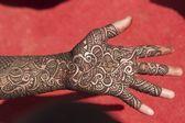 Manos decoradas con henna — Foto de Stock
