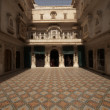 Ornate Courtyard - Stock Photo