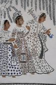 Mural of Indian Ladies — 图库照片