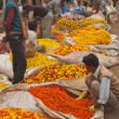 Calcutta Flower Market — Stock Photo