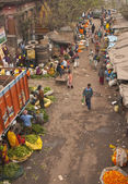 Indian Flower Market — Stock Photo