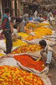 加尔各答花卉市场 — 图库照片