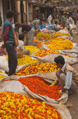 Calcutta Flower Market — Stock Photo