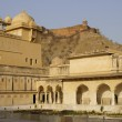 Courtyard in Amber Palace - Stock Photo