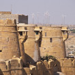 Ancient stone ramparts of Jaisalmer Fort — Stock Photo #9946558
