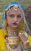Colorful Rajasthani Woman — Stock Photo
