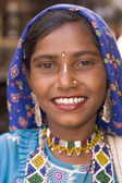India dama sonriente — Foto de Stock