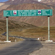 Road Sign On Manali To Leh Highway — Stock Photo