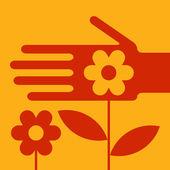 Manutenção de jardim — Vetorial Stock