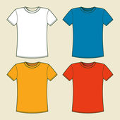 Colorful t-shirts template — Stock Vector