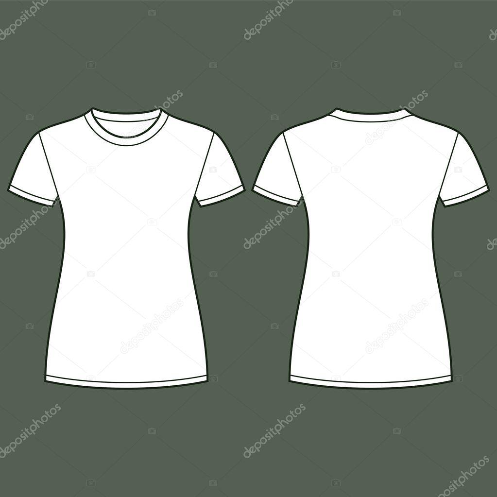 白色t 恤设计模板