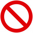 Not Allowed Sign - Stock Vector