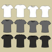 T-shirt template — Stock Vector