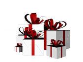 Skizzierten geschenke — Stockfoto