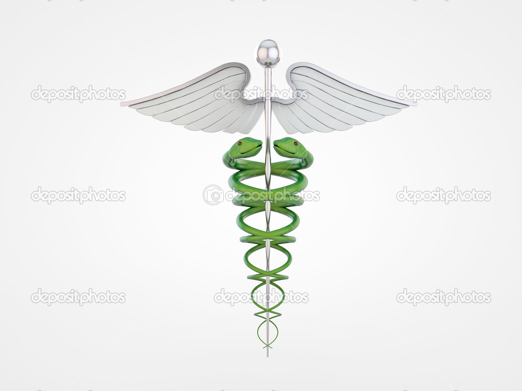 Caduceus isolated on white background — Stock Photo #10202213