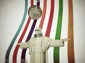 Jesus disk jockey with open arms — Stock Photo