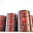 Flammable barrels - Stock Photo