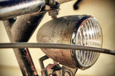 Bicycle headlight — Stock Photo