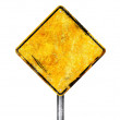 Stock Photo: Blank yellow sign
