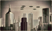 Ufo in formations — Stock Photo