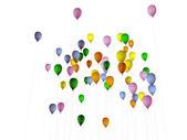 Balões coloridos, isolados no fundo branco — Foto Stock