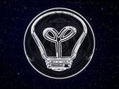 Pictogram van de lamp in de nacht onder de sterren — Stockfoto