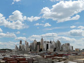 Downtown of a big city under a blue sky — Stock Photo