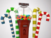 Gumball machine isolated on white background — Stock Photo