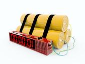 Bomba com timer digital — Fotografia Stock
