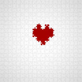 Heart puzzle — Stock Photo